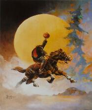 "Authentic Frank Frazetta Print ""HEADLESS HORSEMAN 2"" #134  18 X 22"""