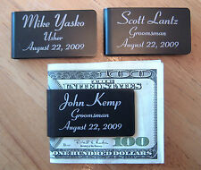 6 Personalized Money Clips Groomsmen Best Man Usher Wedding Party Gift