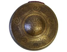 """TIBETAN GONG _ ETCHED BUDDHIST TEMPLE BELL 11"""" _ Sound #02"""
