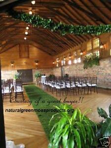 MOSS RUNNER 4'x20' moss mat roll moss carpet moss cloth wedding aisle runner