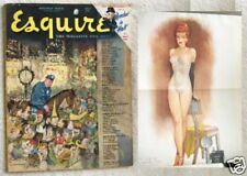 JAN. 1948 ESQUIRE MAGAZINE, FRITZ WILLIS PIN-UP GIRL