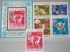 ADEN MAHRA 1967 25-29 A Block 2 A Olympics Olympia 1968 Mexico Sport Art MNH