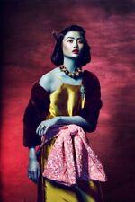 Impresión en Marco - Precioso Asiático Woman en Tradicional Ropa (Japonés China)