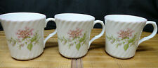 CROWN TRENT STAFFORDSHIRE ENGLAND Set of 3 Mugs, Pink Floral