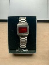 Vintage Pulsar 3502 Mens Sport Stainless Steel LED Watch from late 1970s RARE