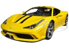FERRARI 458 SPECIALE YELLOW 1:18 DIECAST MODEL CAR BY BBURAGO 16002
