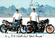 Alan CATHCART SIGNED Autograph 12x8 Photo A AFTAL COA Land Speed Record Holder