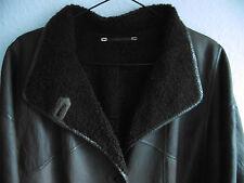 Leder Mantel  Gr40 braun Lamm wie gewachsen  Lederseite nach aussen   Peter Hahn