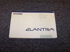 1993 Hyundai Elantra Sedan Owner Owner's Operator User Guide Manual 1.6L 1.8L