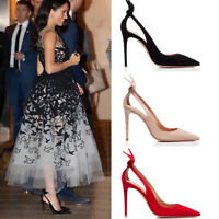 Ladies Suede Pointed Toe High Heel Party Shoes Hollow Out Sexy Pumps Stilettos