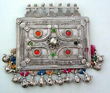vintage antique tribal old silver pendant rajasthan