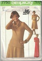 7750 Vintage Simplicity Sewing Pattern Misses Jiffy Knit Pullover Dress Top