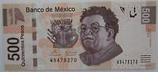 Mexico UNC Note 500 Pesos November 2010 P-126 Serie J Polymer