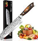 Kitchen Chef Knife Sharp Santoku Knife Stainless Steel Japanese Pakkawood Handle