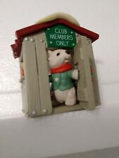 """Hallmark Keepsake Handcrafted Ornament """"Our Clubhouse"""" Collector's Club 1988 New"""