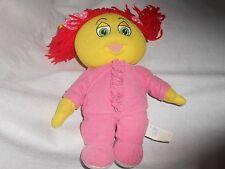"2006 plush my bedbug bedbugs plush gooby pink yellow red yarn hair doll 12"""