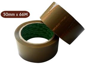 50mm X 66M(6,12 & 36  ROLLS BUFF STRONG PARCEL TAPE CARTON SEALING