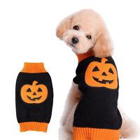 Dog Puppy Halloween Pumpkin Costume Pet Cat Costumes Sweater Warm Winter Dress