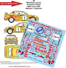 DECALS 1/18 REF 56 MITSUBISHI LANCER MAKINEN RALLYE DES 1000 LACS 1995 RALLY WRC