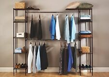 EXPANDABLE CLOSET ORGANIZER SYSTEM No Tools Needed Clothing Shoes Purses & More