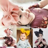 Baby Toddler Girl Kids Rabbit Bow Knot Turban Headband Hair Band Headwrap O2I9