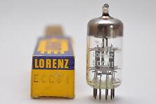 SEL Lorenz ECC81 / ECC 81 / 12AT7 Röhre, Audio Preamp Tube, NOS