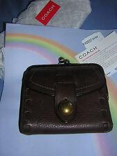 Coach LegacyThompson Mahogany  Leather Framed  French WalletPurse  HTF NWT SALE