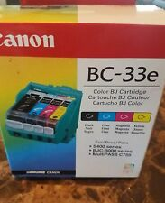 Ink Cartridge Canon BC-33e Black & Color S400 BJC 3000 MultiPass C755 OEM  Brand