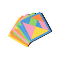 7 Pièce Rainbow Couleur Eva Tangram Diy Mousse Cerveau Puzzle Enfants Jo FE