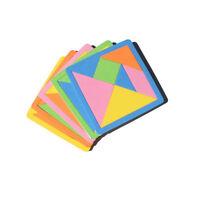 7 Piece Rainbow Color EVA Tangram DIY Foam Brain Puzzle Kids Educational Toys XJ