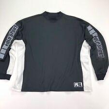 VTG Polo Sport Ralph Lauren Men's L/S Black Performance Shirt Spell Out • XL