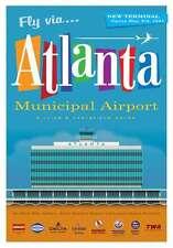 "JA025 ATLANTA MUNICIPAL AIRPORT POSTER 14"" X 20"" BY ARTIST CHRIS BIDLACK"