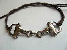KARMASTRING brown cotton horsebit tie-on bracelet ..anklet tack livery pony