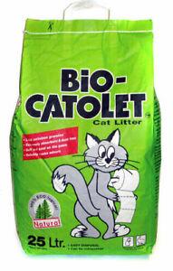 Bio Catolet Cat Kitten Litter (100% Recycled Paper) 25 Litre Damaged Bag