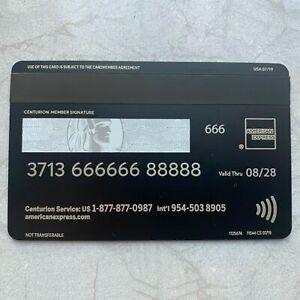 Metal Black Card Customizable American Express Centurion Collect Amex Black Card