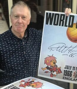 Sir Geoff Hurst signed World Cup Willy poster from his agent COA great value £25
