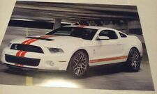 2011 Ford Shelby Cobra GT500 Muscle Car Picture Poster Page from Calendar