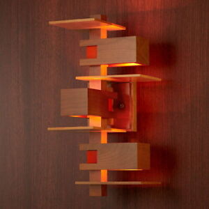 Taliesin 3 Wall Sconce Lamp Frank Lloyd Wright Brown REPRODUCT 420x192x213mm