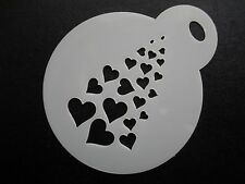 Corte láser Pastel de diseño de corazones pequeños descoloramiento, Cookie, Craft & Plantilla de Pintura de cara