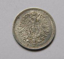 KAISERREICH: 20 Pfennig 1876 B, J. 5, prägefrisch/unc., SELTEN !!!