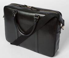 Paul Smith Mens City Embossed Black Leather Portfolio Folio Laptop Briefcase Bag