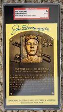 Autographed Joe DiMaggio Hall of Fame Gold Plaque SGC Slabbed