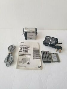 Vintage JVC GR-DX100EK Video Camera Camcorder with Accessories *TESTED & WORKING