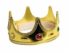 Child Royal Crown King Queen Gold Medieval Wisemen Costume Accessory Gems Small
