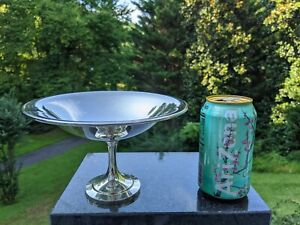 """Oneida Silversmiths 7.5"""" Wide Footed Candy Bowl 4.5"""" Pedestal Base - Substantial"""