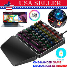 7 Color Led 35 Key One Hand Mechanical Gaming Keyboard Keypad for Pc Laptop Game