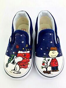 Vans Shoes Peanuts Snoopy Toddler Kids 6 Cartoon Charlie Brown 2017 Boy Girl