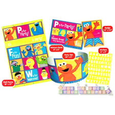 SESAME STREET P is for Party GUEST OF HONOR KIT ~ Birthday Party Supplies Book