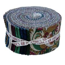 Briarcliff 2.5 Jelly Roll Fabric Strips Cival War Plaid Stripe Red Blue Green