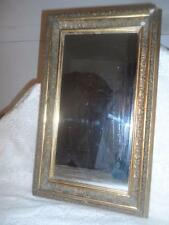 Antique LG.Ornate Victorian Gold Gilt Wood & Gesso Wall Mount Mirror Vanity Tray